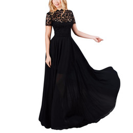 Wholesale Wholesales Dresses Prom Night - Wholesale- Women Long Maxi Dress Sexy Lace Evening Party Ball Prom Gown Formal Dress