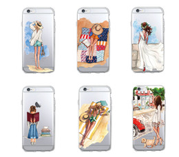 Wholesale Classy Girls - Fashion Classy Paris Girl Summer Legs Travel Relax Beach Macaroon Soft Phone Case For iPhone 7 7Plus 6 6S 6Plus 5 5S SE