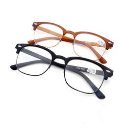 Wholesale Reading Glasses For Men - Fashion Brand Design TR90 Retro Frames Resin Lens Reading Glasses Men Women Retro Style Optical Glasses Unisex Eyewear 20pcs Lot For sell