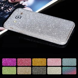 Wholesale Decals For Case - for Samsung S8 Cover Full Body Glitter Vinyl Sticker Phone Decal for Samsung Galaxy S8 Plus S6 S7 EDGE Case Bling Diamond Decals
