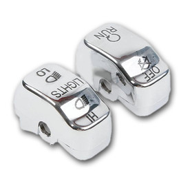 Wholesale Chrome Switch Housings - Hot Sale Hand Control Switch Housing Buttons Caps Harley SOFTAIL DYNA Chrome