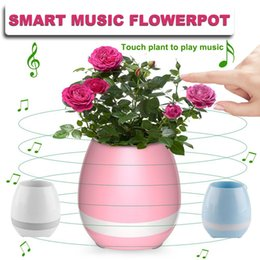 Wholesale Colourful Mobiles - Creative Smart Bluetooth Touch Music Flower Pots Home Office Decoration Green Plant Music flowerpot Colourful Night Light with Speaker