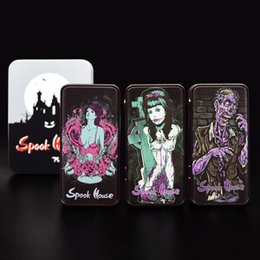 Wholesale Cool Skull Designs - Original Spook House 75W TC Box Mod with 510 Thread Cool Design Skull DIY Mod Electronic Cigarette Fit 510 Atomizers DHL Free