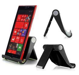 Wholesale Tablet Phone Pcs - Three-color desktop universal folding mobile phone stand Tablet PC Universal stent portable lazy stent