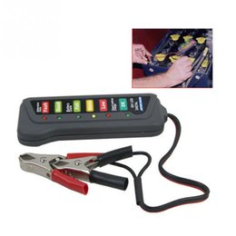 Wholesale Vw 12v - 12V Digital Battery   Alternator Tester with 6-LED Lights Display Car Vehicle Battery Diagnostic Tool