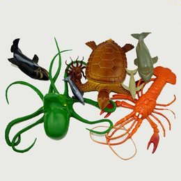 Wholesale Animal World Toys - Baby Bath toys natural world animals sounding toys Shark Whale Crab Insects early education figures toys for kids boys girls