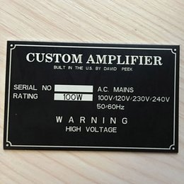 Wholesale Plate Engraving - Custom Engraved Plate Anodized Aluminium Stainless Steel Name Plaque Label Tag(Not the Finial Price,Contact us Before Paying))