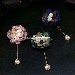 Wholesale Gift Boxes Buy - [Buy 3 get 1 free] Designer Handmade 3D Sheer fabrics Pearl Flower Pin brooch Wedding Jewelry Gift box pack