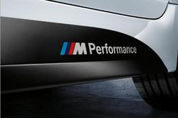 Wholesale Performance Mirror - Personalized Sticker Car Stickers for BMW M3 M5 PVC 20cm Black White Word M Performance Drop Ship 10 Pieces