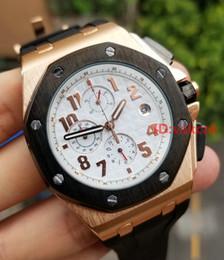 Wholesale Men Luxury Watch Chronograph - New Luxury Brand Gold Sports Mens Watch Chronograph Stopwatch Royal Oak Offshore Limited Edition Lebron James Fashion Men Watches Wristwatch