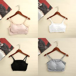 Wholesale Exercise Apparel - S M L XL  Sexy Women Camisoles have Bra pad and No rims, cotton Halter tops small Camisoles Take exercises Yoga Home apparel
