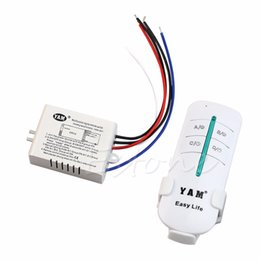 Wholesale Wireless Lamp Way - Wholesale- 1 PC 220V Wireless ON OFF 1-Way Lamp Remote Control Switch Receiver Transmitter New
