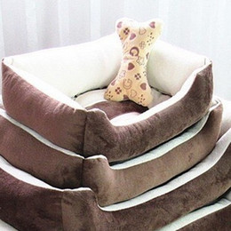 Wholesale Wholesale Luxury Sofas - High Quality Pet Nest Square Kennel Warm Sofa Mini Autumn Winter Doghouse Luxury Doghole Pets Cat Beds Cashmere Small dog 48cl H R