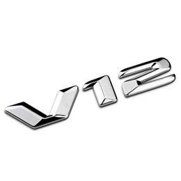 Lettres plastiques 3d en Ligne-3D ABS original V12 séparé lettres en alliage de zinc accessoire de style de voiture réaménagement emblème Fender Badge 3D autocollant pour Benz S600L