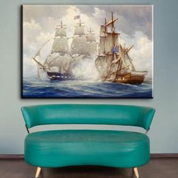 ZZ1353 famosi dipinti su tela stampe arte barche a vela paesaggio marino quadri su tela pittura ad olio per soggiorno camera da letto da pitture a olio a vela fornitori