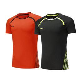 2017 neue Li-NING Badminton tragen T-Shirts, Männer Tischtennis Jersey, Polyester schnell-trocken Tennis Sport Shirts, Frauen Ping Pong Shirts von Fabrikanten