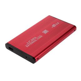 Wholesale Hard Disk Notebook - Wholesale- 1Pcs USB 2.0 2.5 Inch SATA Enclosure External Case For Notebook Laptop Hard Disk