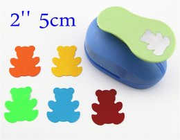 Wholesale Circle Punches - Wholesale- free ship large 2'' 5cm Bear paper punches for scrapbooking craft perfurador diy puncher paper circle cutter3198