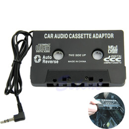 Wholesale Tape Cassette Dvd Converter - Universal Black Audio Car Cassette Tape Adapter Transmitters Converter FOR MP3 CD MD DVD For Clear Sound Music