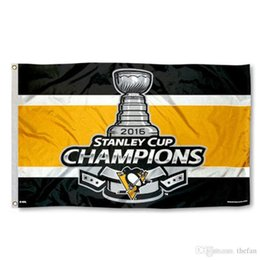 Wholesale Hockey Supplies - Pittsburgh Penguins Hockey Flag Hockey Team Flag Banners Champion Party Decoration Offices Flags Festival Party Supplies Banners Birthday