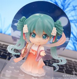Wholesale Moon Cake Model - LilyToyFirm Q Version 539# Miku With Moon Cake PVC Action Figure Face Transplant clay Doll Model Toy