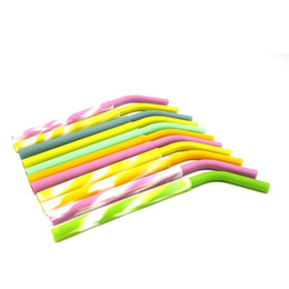 Wholesale Colorful Drink - New Silicone Straws for 30 Oz 20 oz Colorful Silicone Drinking Straws For RTIC Custom Silicone Rubber Drinking Straw