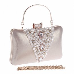 Wholesale Handmade Purse Crystal - Wholesale-2016 Women Pearl Evening Bags Handmade Beaded day Clutches Crystal Purses and Handbags Gorgeous Bridal Wedding Party Bag LI-1245