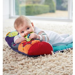 Wholesale Cute Pillow Blankets - Infant Multifunctional Pillow Creative Multicolor Roller Pillow Baby Blanket Crawl Climb Learning Toys Cute Cartoon Pattern Toy