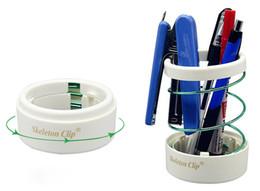 Wholesale Pen Stand Desk Holder - New Flexible Hollow Pen Pencil Case Stretchable Metal Pen Stand Holder Office Desk Scissors Pencil Holder Cup Organizer Fashion Design