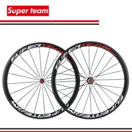Wholesale Carbon Wheels For Road Bicycles - SuperTeam carbon wheelset 700c clincher 38mm bicycle wheels Glossy for Shimano cassette