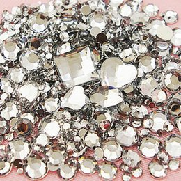 Wholesale- 1500pcs Lot Mix Sizes Clear Round Acrylic Resin Non Hotfix Flatback  Rhinestone 2mm 3mm to 6mm for 3D Nail Art Crystal Decoration 6d0b3d510f92