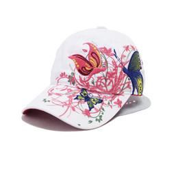 Wholesale China Wholesale Hats Caps - Wholesale- New Fashion China Style Baseball cap Fashion Leisure Flowers Hats Vintage Adjustable Baseball Hat Cap For Women 2 colors