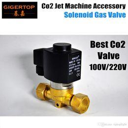 Бесплатная доставка CO2 машина электрический клапан американский DJ CO2 клапан запасная часть Led Сценический свет Co2 машина Jet Сценический свет 100 в / 220 В от Поставщики части электрические