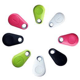 Cercatore remoto perso online-iTag Bluetooth GPS Tracker Anti-Lost Allarme Tracer Bluetooth Key Finder Locator Otturatore telecomandato per tutti gli smartphone con borsa OPP