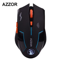 Wholesale Mouse Pc - Wholesale- AZZOR Rechargeable Wireless Mouse Slient Button Computer Gaming 1600DPI Built-in Battery with Charging Cable For PC Laptop