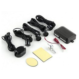 Wholesale Auto Parking Kit - 10pcs a lot 4 Parking Sensors Car Auto Reverse Rear Assistance Backup Park Radar Buzzer Alarm Kit Monitor System