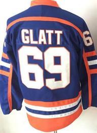 Wholesale Glatt Men - 16 17 New Style 69 Doug Glatt The Thug Halifax Highlanders GOON Movie Vintage Doug Glatt Ice Hockey Jerseys For Sport Fans Team Color Blue