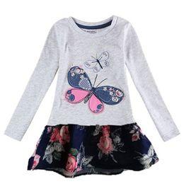 Wholesale Nova Girls Long Sleeve - Baby Girl Dress long sleeve kids dresses for girls clothes Nova Floral Baby Girl Dress Kid Girl Dresses 2016 children clothing