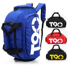Wholesale Outdoor Shoes Bag - Outdoor Travel Duffel Bag NK T90 Waterproof Multifunction Backpack Yoga Gym Bags Handbags Sport Training Bags Basketball Football Shoe Bags
