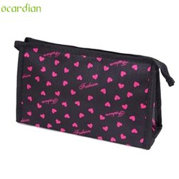 Wholesale Cosmetics Bag Green - Wholesale- Naivety 2016 New Portable Superior Colorful Pattern Multi-Function Cosmetic Bag Cute Cosmetische zak 11S60921 drop shipping