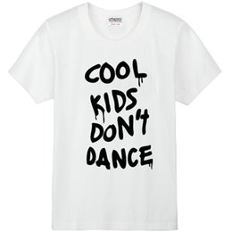 Wholesale One Direction Music - One direction T shirt Cool kids do not dance short sleeve gown Music band tees Leisure printing clothing Quality cotton Tshirt