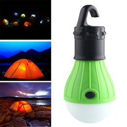 Wholesale Outdoor Portable Hanging Light - Wholesale-Portable outdoor Hanging 3-LED Camping Lantern,Soft Light LED Camp Lights Bulb Lamp For Camping Tent Fishing
