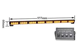 Controlador de luz de emergência led on-line-Alta intensidade 100 cm 10-30 V 32 W Led luzes de advertência do estroboscópio, Levou barra de luz de emergência com controlador para a polícia ambulância caminhão de bombeiros, à prova d 'água