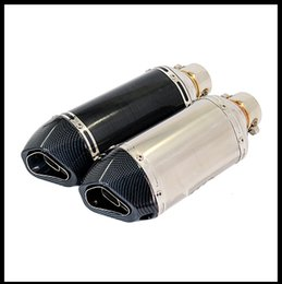 Wholesale Gy6 Exhaust - Akrapovic Yoshimura Motorcycle Exhaust Muffler Pipe Echappement Moto With db killer For GY6 CBR125 CRF230 TMAX 500 ER6N FZ6