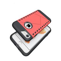 Iphone aluminium skin en Ligne-Pour Iphone 7 Hybride Armure TPU En Aluminium Étui Rigide Double Couche Mince Vague ShockProof Couverture de Peau Defender