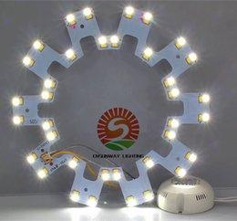 circular de 18w el panel llevado Rebajas 12W 18W 24W LED Circle PANEL Luz redonda circular Lámpara de techo SMD 5730 Tablero LED para luz de techo AC110-240V + Driver