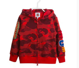 Wholesale Boys 3t Jacket - New Jacket Kids Clothes shark Girls boy Coat, Hoodies, Baby Girl Cotton Jacket apes Children Clothing Outwear