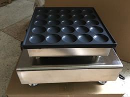 Wholesale Panini Press Grill - Free Shipping 25 Pcs Commercial 110v 220v Dutch Poffertjes Mini Pancakes Maker Machine Baker Plate