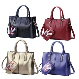 Wholesale Large Leather Tote Bags Wholesale - PU Leather Shoes Print Casual Women Composite Bags Large Capacity Handbag Solid Elegant Women Crossbody Shoulder Bags