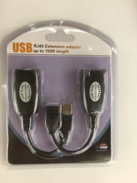 Wholesale Extension Hdmi Male Female - USB to RJ45 Extension Adapter USB Signal Amplifier High Speed USB Extension Cable 150ft length For Printers with Retail box